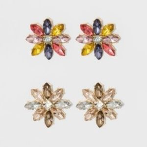SUGARFIX by BaubleBar Bejeweled Stud Earring Set